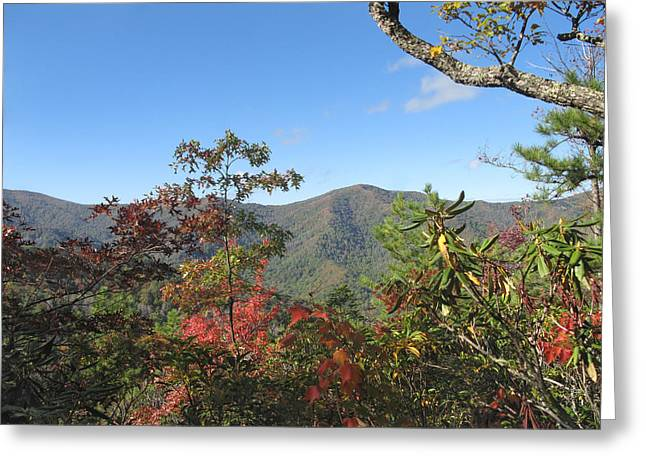 Autumn Smoky Mountains Greeting Card by Melinda Fawver