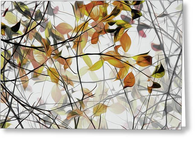 Autumn Song Greeting Card by Gilbert Claes