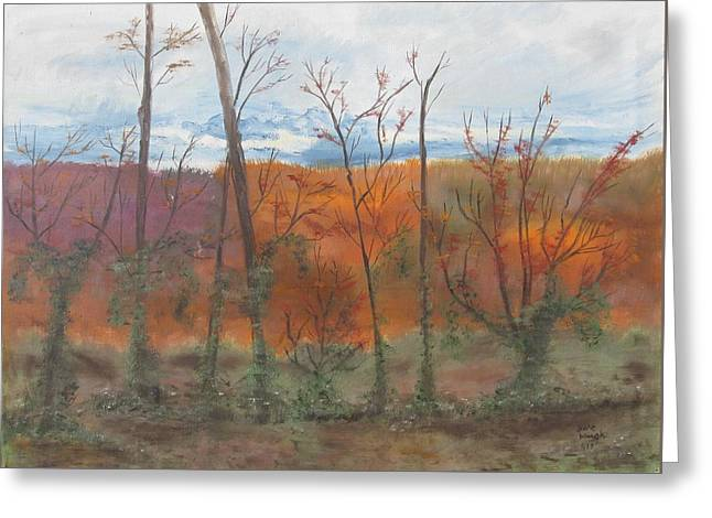 Greeting Card featuring the painting Autumn Splendor by Diane Pape