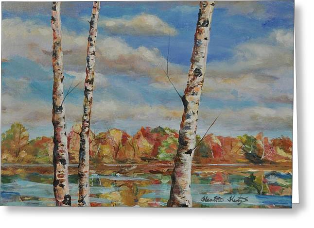 Autumn Splendor Greeting Card by Heather Kertzer