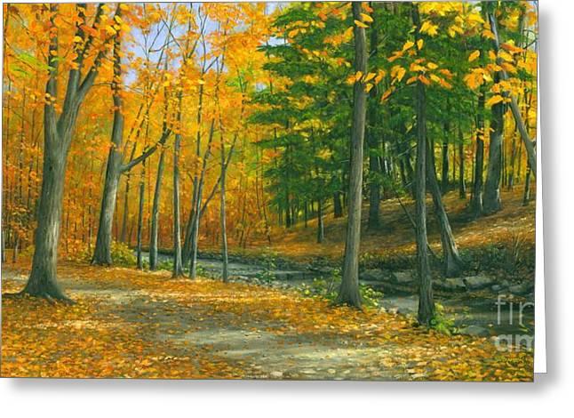 Sawmill Creek Greeting Card by Michael Swanson