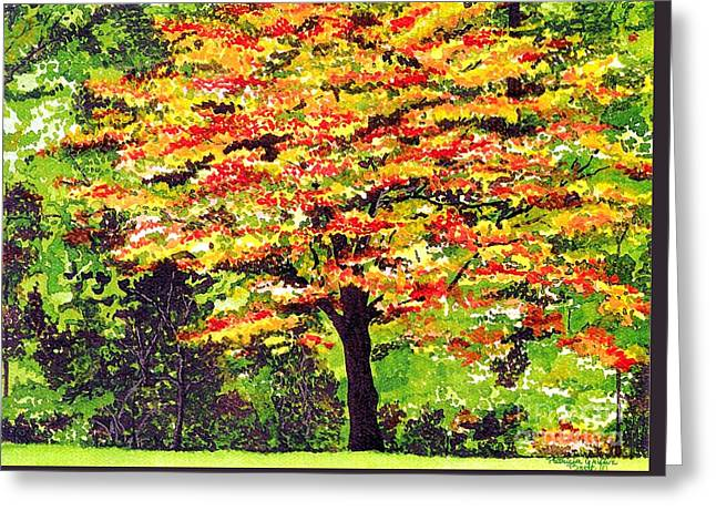 Greeting Card featuring the painting Autumn Splendor by Patricia Griffin Brett