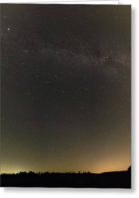 Autumn Stars And Light Pollution Greeting Card by Eckhard Slawik