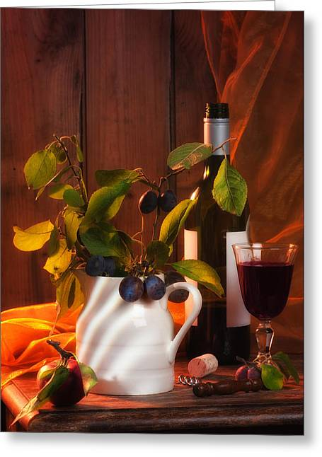 Autumn Still Life Greeting Card by Amanda Elwell