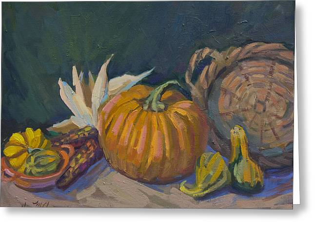 Autumn Still Life Greeting Card by Diane McClary