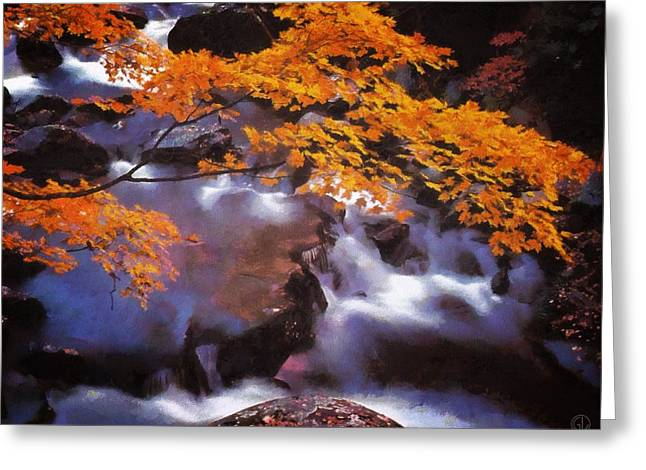 Autumn Stream Greeting Card by Gun Legler