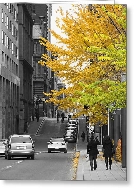 Autumn Stroll Greeting Card by Nicola Nobile