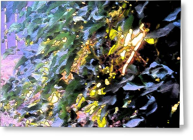 Autumn Sun On Leaves Greeting Card