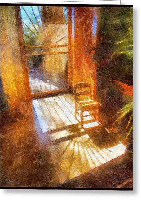 Autumn Sun Greeting Card by Rick Lloyd