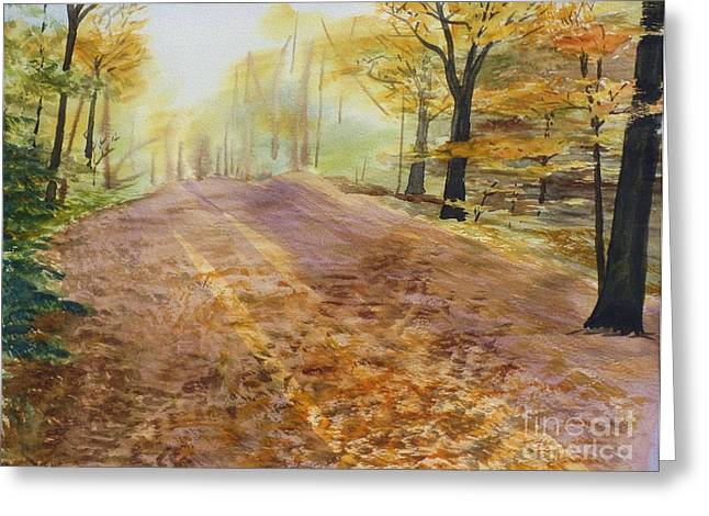 Autumn Sunday Morning Greeting Card