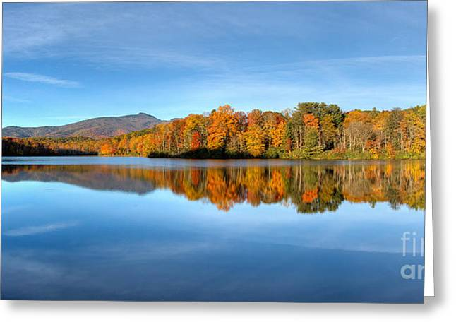 Autumn Sunrise At Price Lake Greeting Card by Dan Carmichael