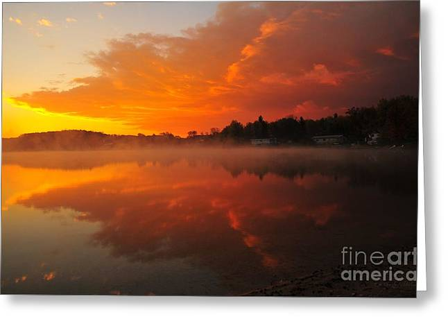Autumn Sunrise At Stoneledge Lake Greeting Card