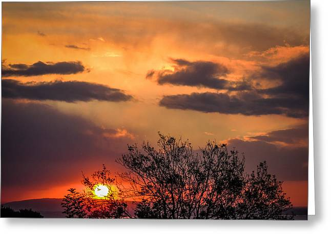 Autumn Sunrise Greeting Card