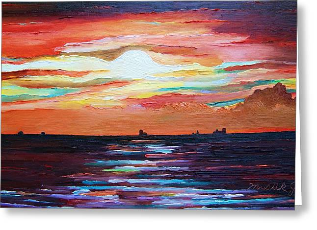 Autumn Sunset On The Baltic Sea Greeting Card