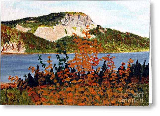 Autumn Sunset On The Hills Greeting Card