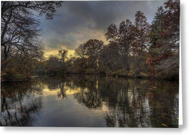 Autumn Sunset On West Brook Pond Greeting Card