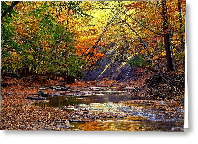 Autumn Sunset Greeting Card by Frozen in Time Fine Art Photography