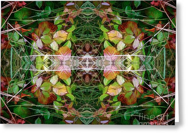 Autumn Symmetry Greeting Card