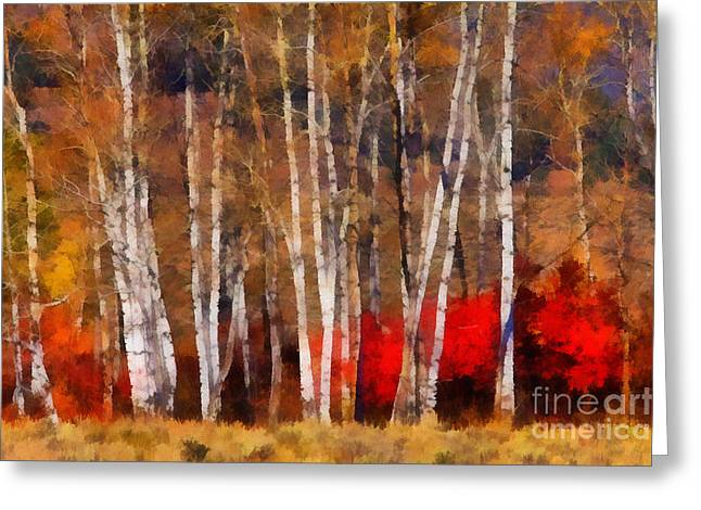 Autumn Tapestry Greeting Card by Clare VanderVeen