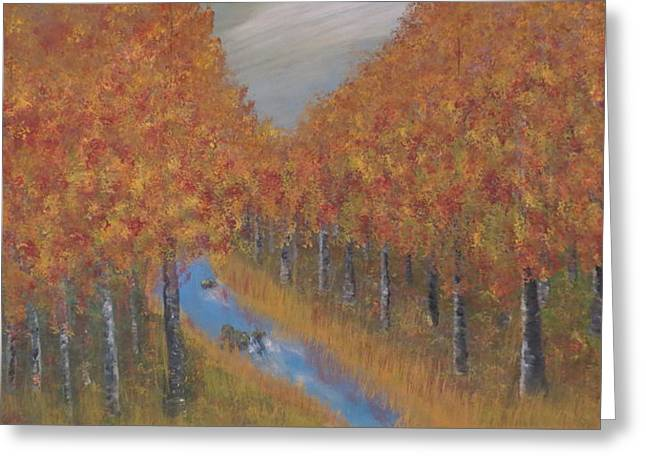 Autumn Greeting Card by Tim Townsend