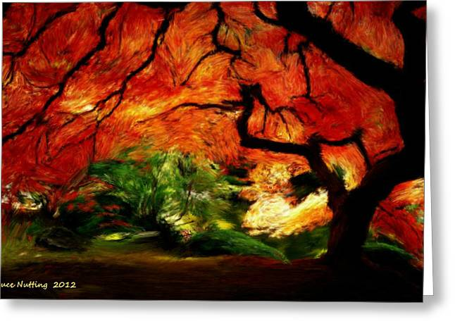 Greeting Card featuring the painting Autumn Tree by Bruce Nutting