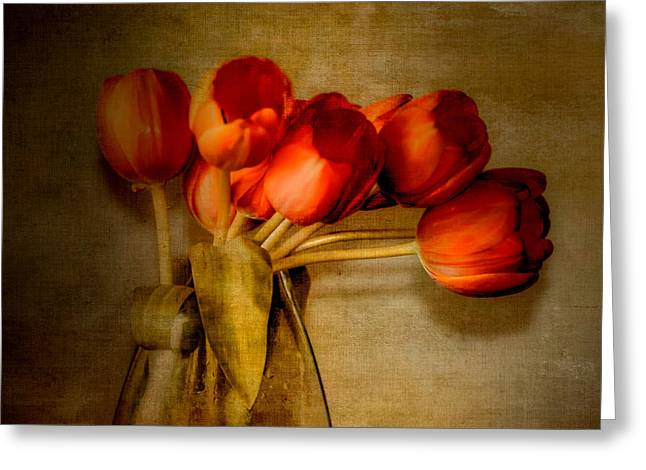 Autumn Tulips Greeting Card by Julie Palencia