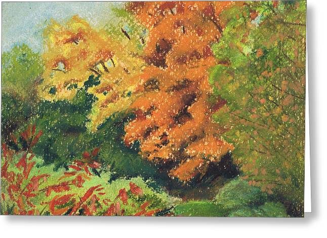 Autumn Uplands Farm Greeting Card by Susan Herbst