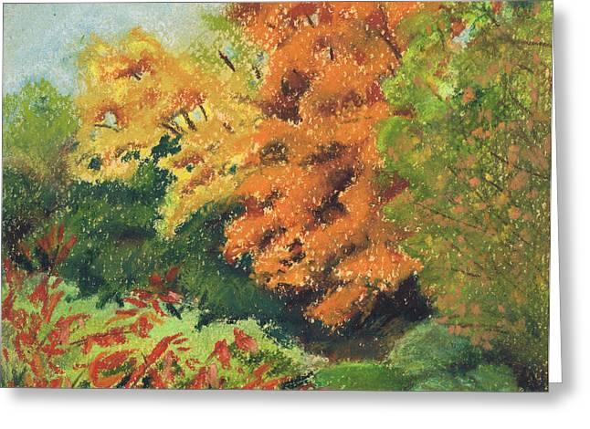 Autumn Uplands Farm Greeting Card