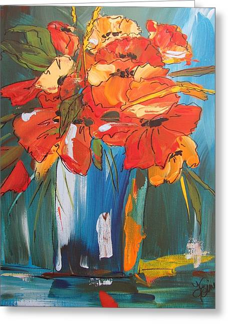 Autumn Vase Greeting Card