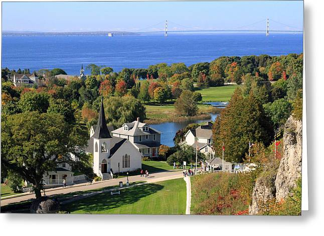 Autumn View On Mackinac Island Greeting Card