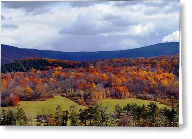 Autumn View Toward Mount Greylock Greeting Card by Geoffrey Coelho