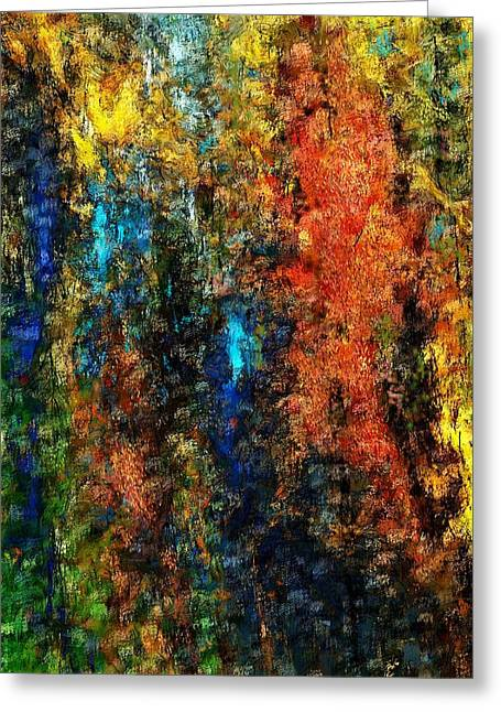 Greeting Card featuring the digital art Autumn Visions Remembered by David Lane