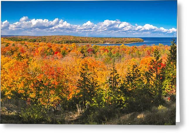 Autumn Vistas Of Nicolet Bay Greeting Card by Mark David Zahn