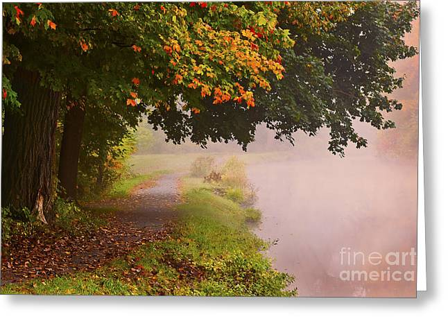 Autumn Walk Greeting Card by Julie Palyswiat