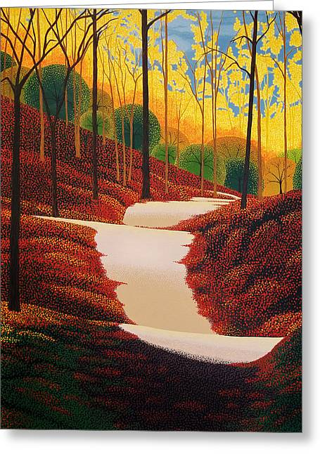 Autumn Walk Greeting Card by Michael Wicksted