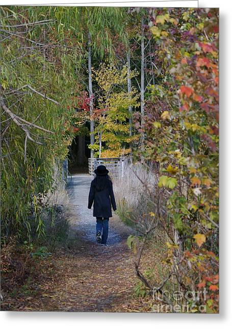 Greeting Card featuring the photograph Autumn Walk by Tannis  Baldwin