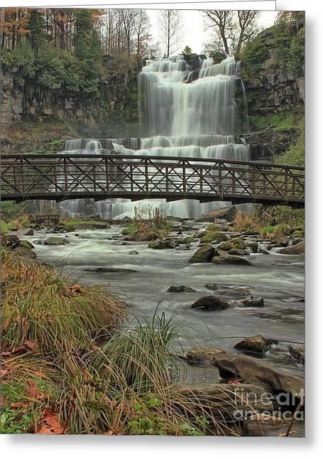 Autumn Waterfalls Greeting Card