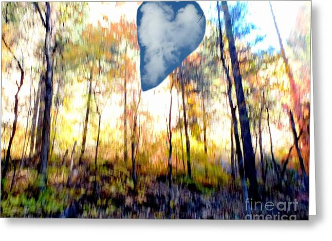 Autumn West Fork Bell Rock Heart Cloud Greeting Card by Marlene Rose Besso