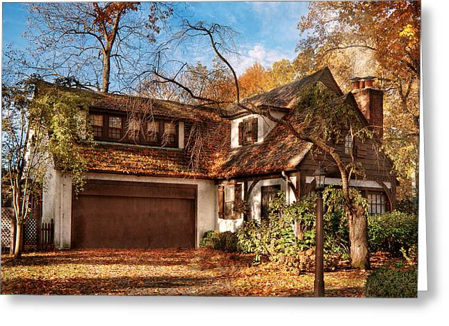 Autumn - Westfield Nj - Lost In The Woods Greeting Card by Mike Savad