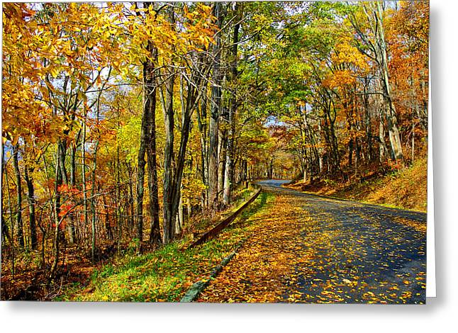 Autumn Winding Road Greeting Card