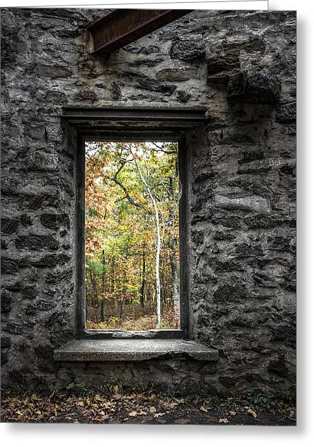 Autumn Within Cunningham Tower - Historical Ruins Greeting Card