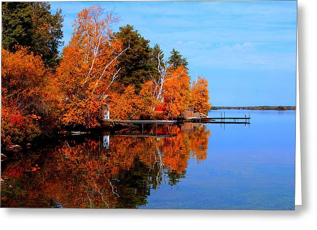 Greeting Card featuring the photograph Autumnal Reflections by Larry Trupp