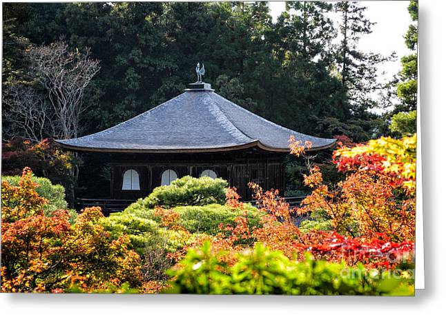 Autumnal Temple - Ginkaku-ji - Temple Of The Silver Pavilion In Kyoto Japan Greeting Card