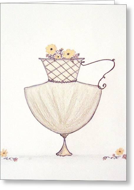 Autumnal Urn Greeting Card by Christine Corretti