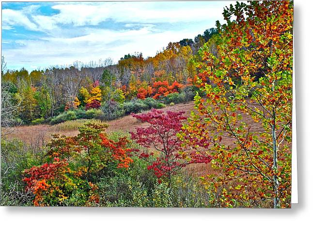 Autumnal Vista Greeting Card by Frozen in Time Fine Art Photography