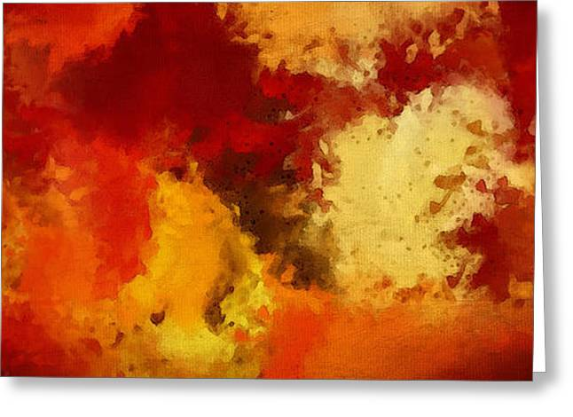 Autumn's Abstract Beauty Greeting Card