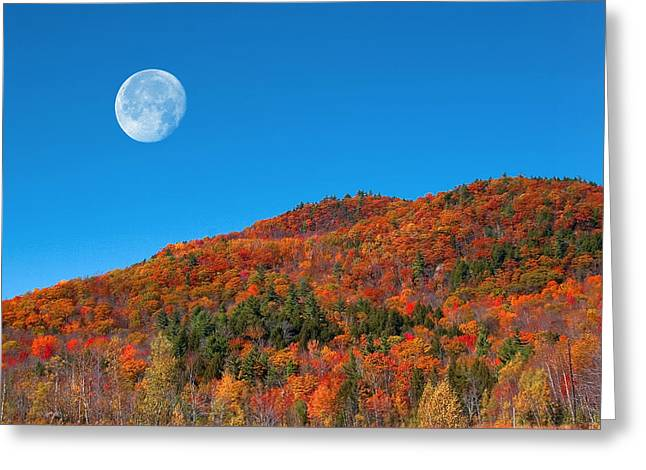 Greeting Card featuring the photograph Autumn's Big Moon  by Larry Landolfi