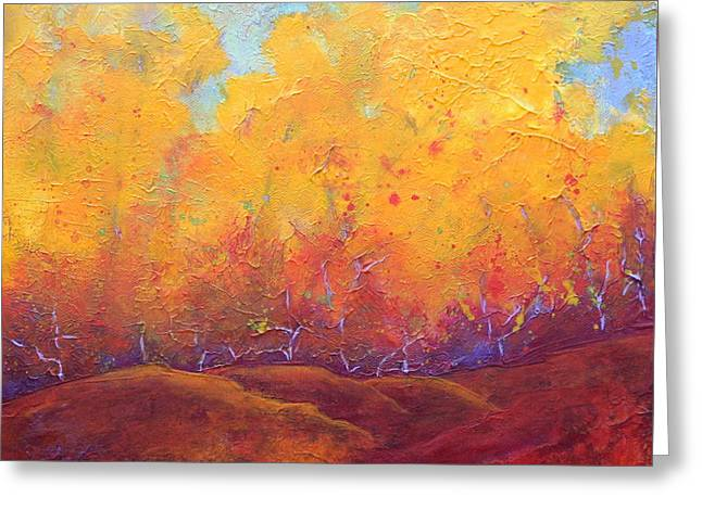 Autumn's Blaze Greeting Card by Nancy Jolley