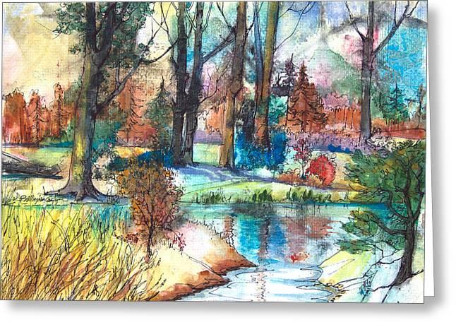 Autumn's Blush Greeting Card by Patricia Allingham Carlson
