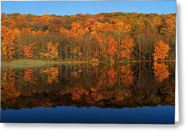 Autumns Colorful Reflection Greeting Card by Karol Livote